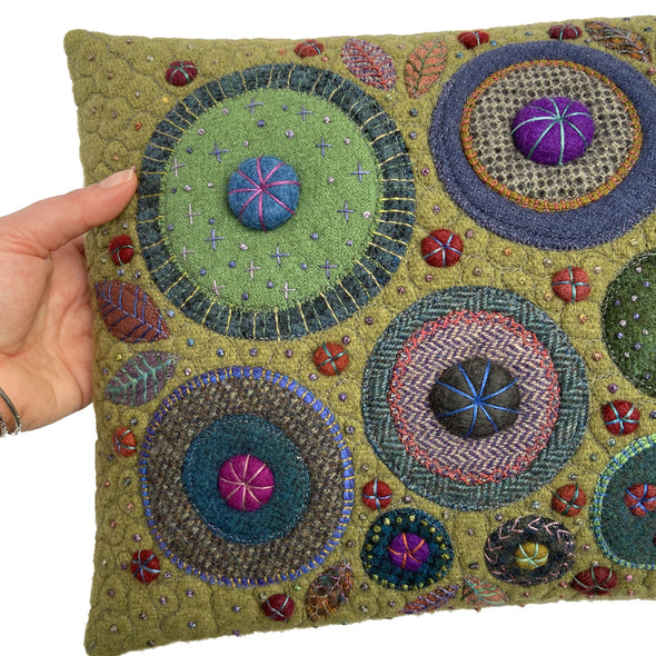 George Street Fancy Stitches Cushion • 12x18 C