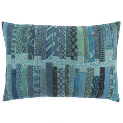 Fancy Tie Prints Cushion • 15x22 A