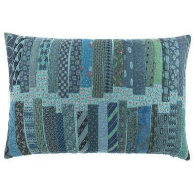 Fancy Tie Prints Cushion • 15x22 B