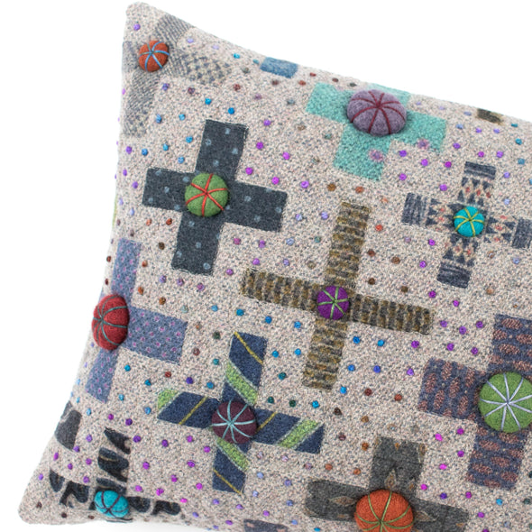 Fancier Tie Prints Cushion • 12x18 A