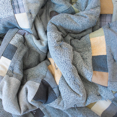 Flannel Wrapped Wool Blanket • H