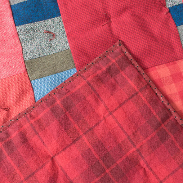 Flannel Wrapped Wool Blanket • C