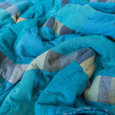 Flannel Wrapped Wool Blanket • A