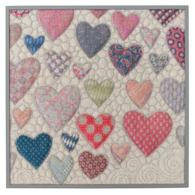 "Hearts = Love Wall Art • 12"" Square C"