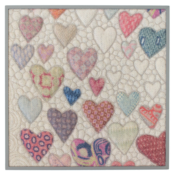 "Hearts = Love Wall Art • 12"" Square D"