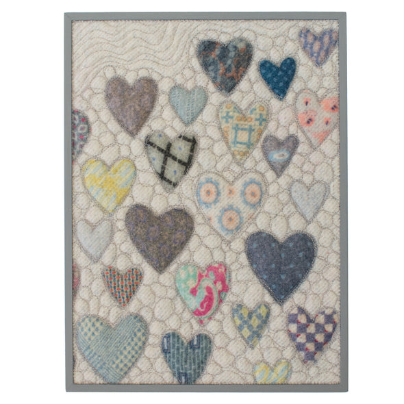 "Hearts = Love Wall Art • 9"" x 12"" Rectangle D"