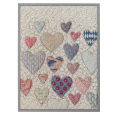 "Hearts = Love Wall Art • 9"" x 12"" Rectangle B"