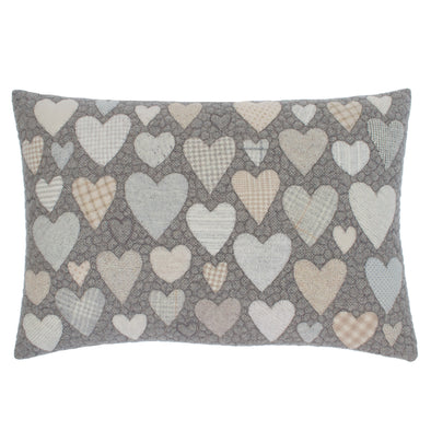 Hearts = Love + Summit Drive Cushion • 15x22 B
