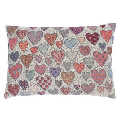 Hearts = Love Tie Prints Cushion • 15x22 C