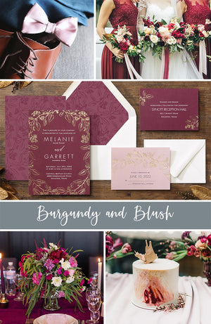 Use Burgundy and Blush Colors Anytime During the Year