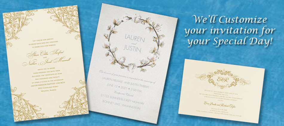 Wedding Consulting Custom Invitation Design from LA to Santa