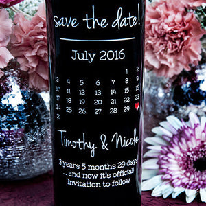 Calendar Etched Wine