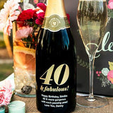 40 & Fabulous! Etched Wine