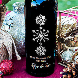 Elegant Wonderland Etched Wine