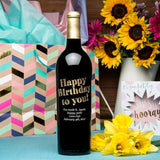 Happy Birthday To You Etched Wine