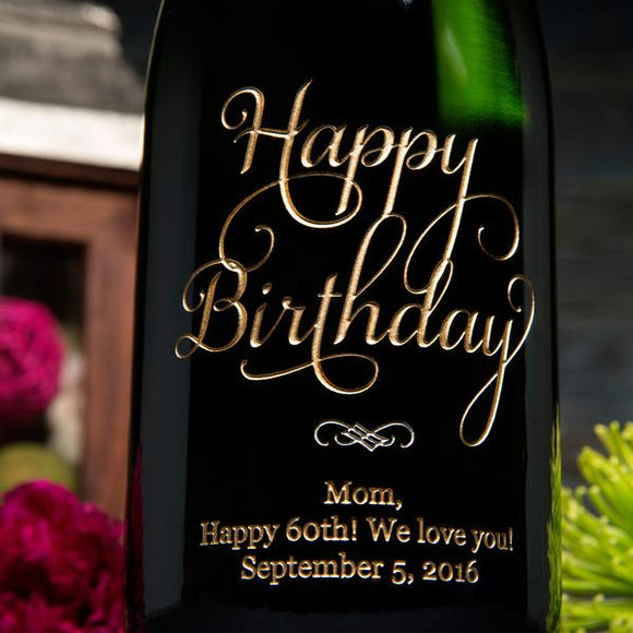 Another Joyful Birthday Etched Wine