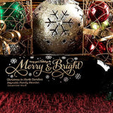 Joyful Merry & Bright Etched Wine