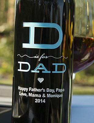 D is for Dad Etched Wine