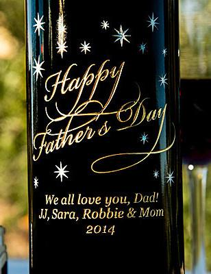 Classic Father's Day Etched Wine