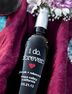 """I Do"" Etched Wine"
