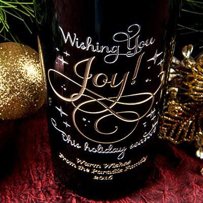 Wishing You Joy Etched Wine
