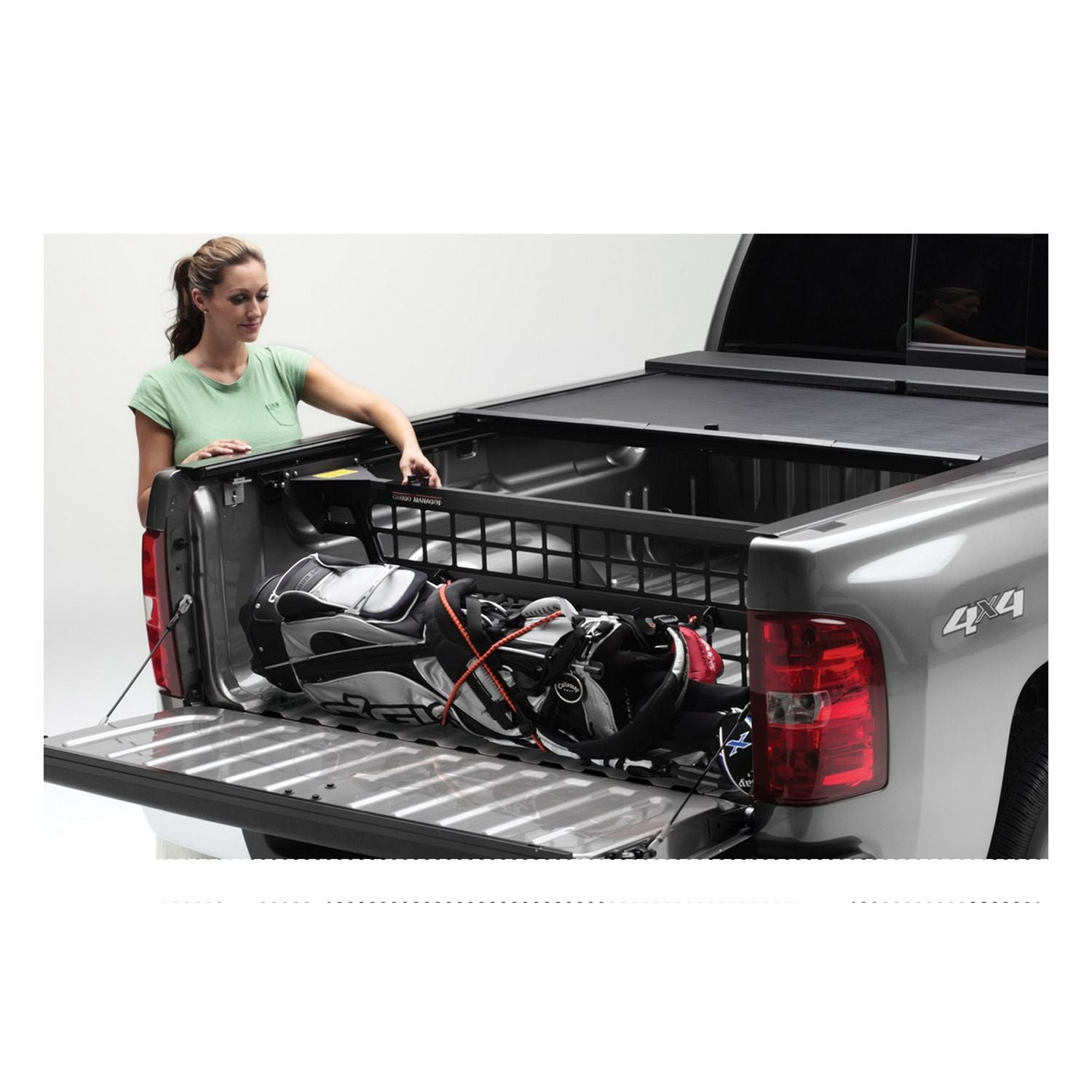 Roll-N-Lock CM572 Cargo Manager Rolling Truck Bed Divider Works Only with Roll-N-Lock Covers for 2007-2020 Toyota Tundra Regular & Double Cab | Fits 8 Ft. Bed