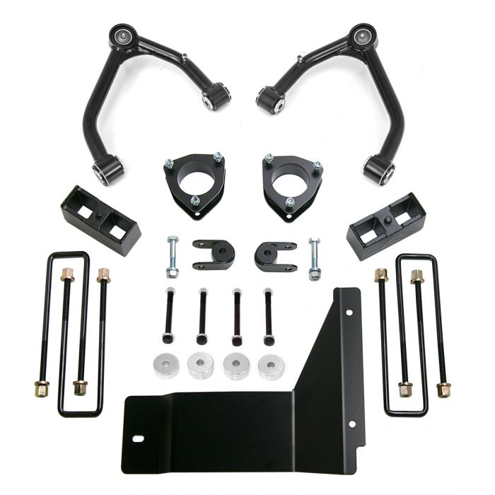 ReadyLift - 4'' SST Lift Kit Front with 3'' Rear Blocks with Upper Control Arms for Cast Steel OE Upper Control Arms without Shocks   -   2007-2013 1500