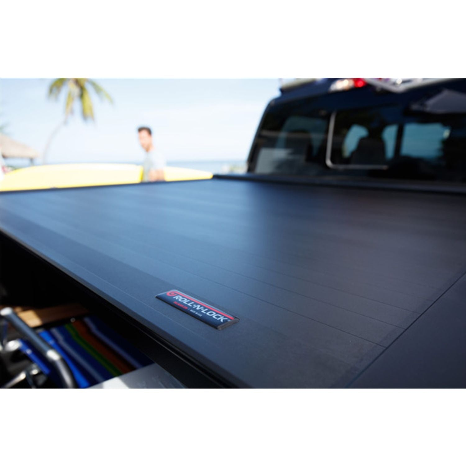 Roll-N-Lock RC570E Locking Retractable E-Series Truck Bed Tonneau Cover for 2007-2020 Toyota Tundra CrewMax | Fits 5.5 Ft. Bed