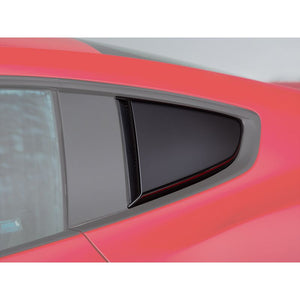 2015-2018 Mustang ROUSH Quarter Window Scoops (Painted Black)