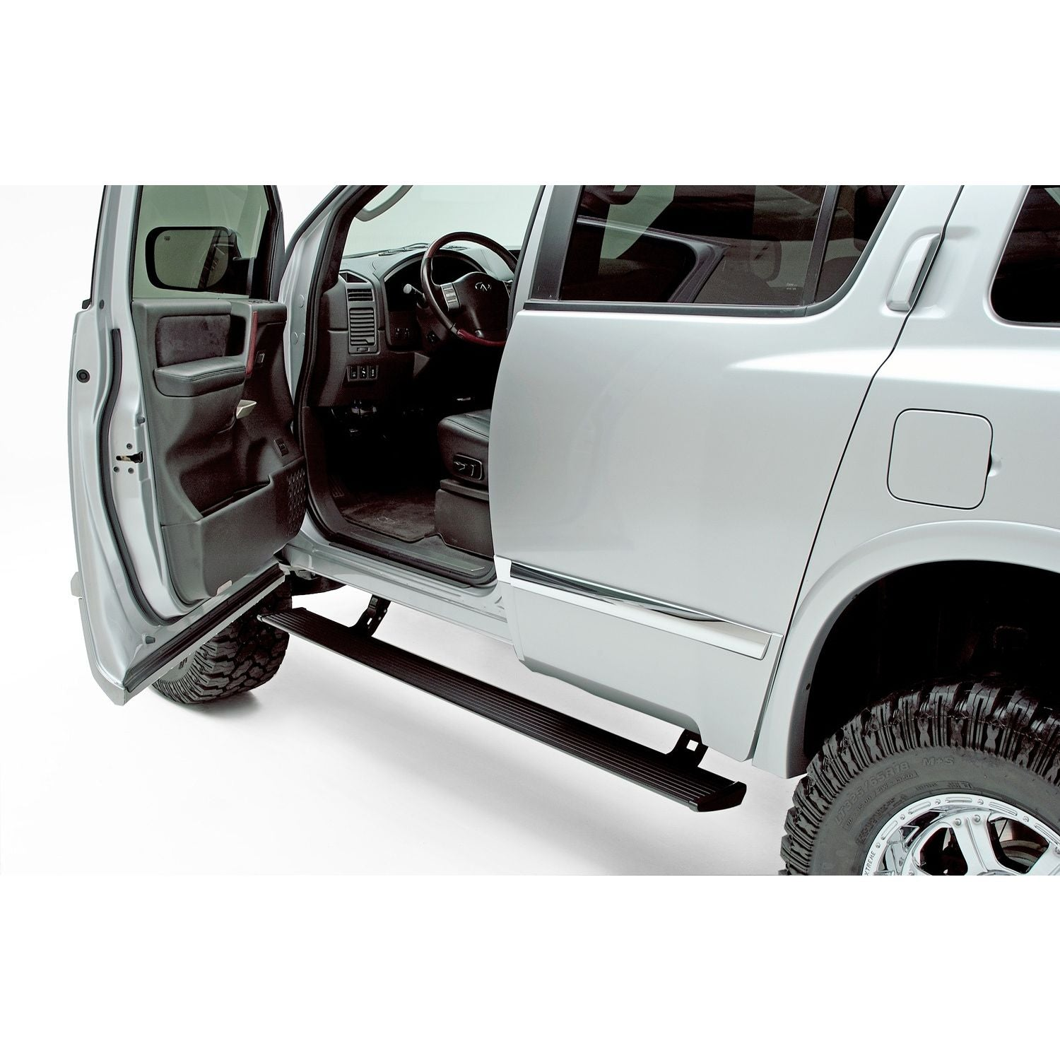 AMP Research PowerStep Electric Running Boards for 2004-2015 Nissan Titan with Crew/King Cab 2004-2015 Nissan Armada 2004-2010 Infinity QX56 - 75110-01A