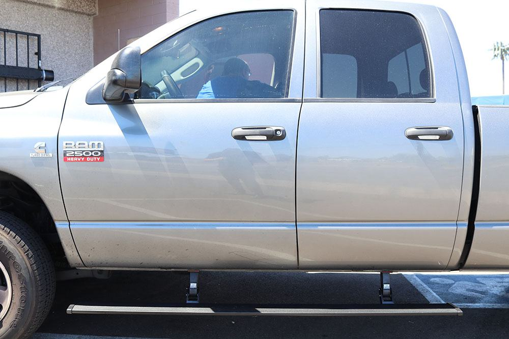 AMP Research - PowerStep Electric Running Board for 2002-2008 Ram 1500 & 2003-2009 Ram 2500/3500 Quad Cab - 75101-01A