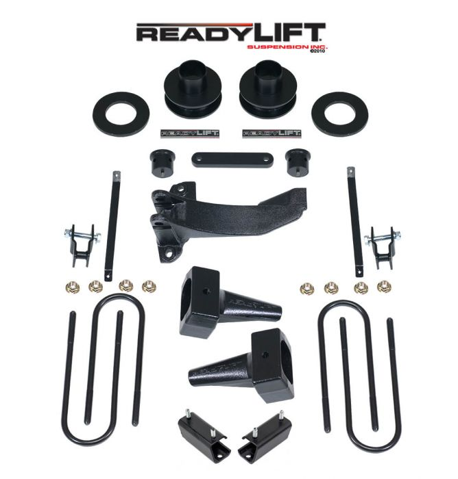 ReadyLift - 2.5'' SST Lift Kit with 4'' Rear Tapered Blocks - 1 Piece Drive Shaft without Shocks   -   2011-2016 F250