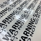 Bowling Lane Foul Warning Decals