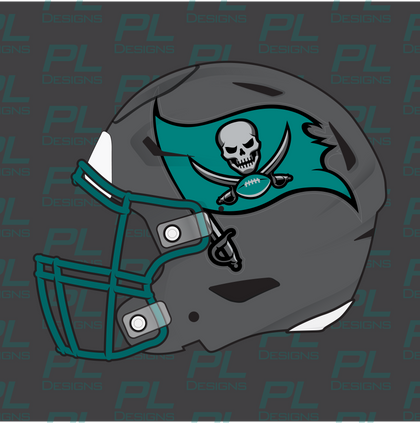 Football Helmet Side Decals - Oversized