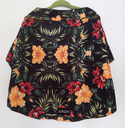 Hawaiian Style Shirt with Yellow and Red Tropical Flowers for Pets