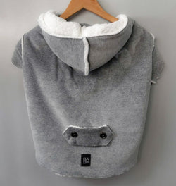 Winter Coat with Hood Gray Color. Choose your size.