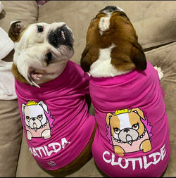 Custom Bulldogs Mascots Princess Pink Color Shirt. Choose your size.