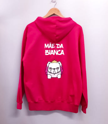 Custom Mascot Hoodie Hot Pink Color Uauhdogs for Humans