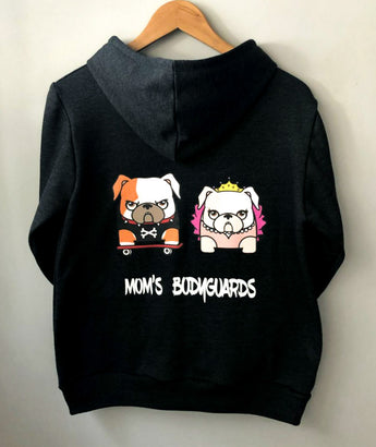 Custom Mascot Hoodie Black Color Uauhdogs for Humans