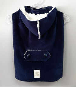 Winter Coat with Hood Navy Blue Color. Choose your size.