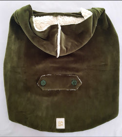 Winter Coat with Hood Olive Green Color. Choose your size.