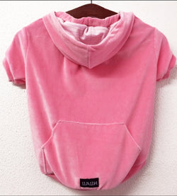 Color Hoodie Extra Comfortable (Stretch  Velour) Pink. Choose your size.