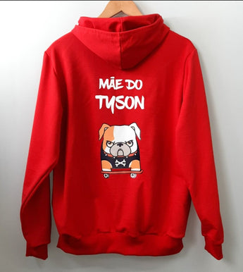Custom Mascot Hoodie Red Color Uauhdogs for Humans
