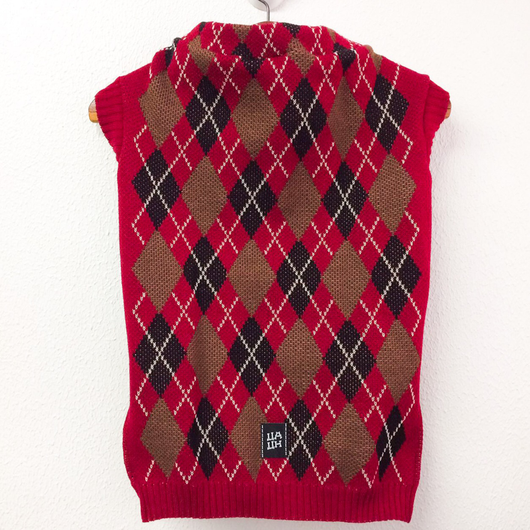 Sweater Argyle Red Color  for Pets