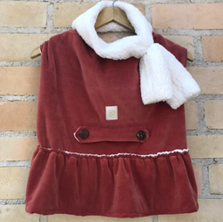 Winter Dress with Scarf Canyon Color for Pets