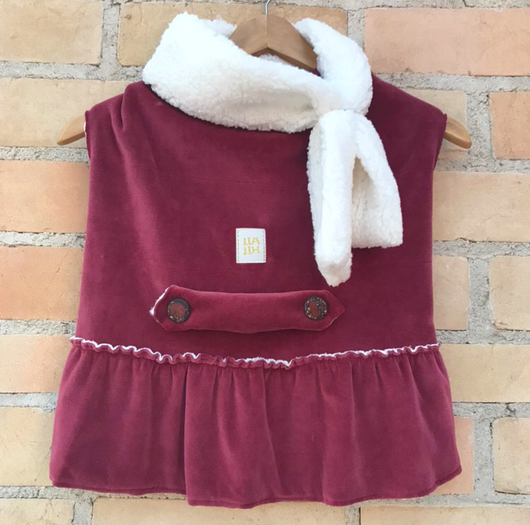 Winter Dress with Scarf Carmenere Color for Pets
