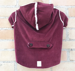 Winter Coat with Hood Carmenere Color. Choose your size.