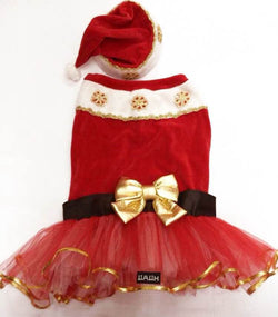 Mrs Santa Claus Tutu Dress Costume. Choose your size.