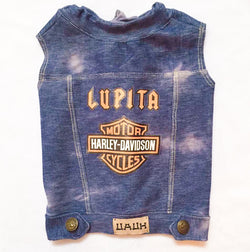 Harley Davidson Customized Denim Vest  UAUH DOGS