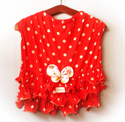 Polka Dot Dress with Butterfly for Pets